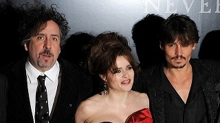 Tim Burton, Helena Bonham Carter, Johnny Depp