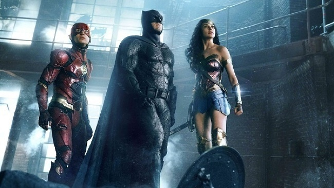 Batman, Wonder Woman a Flash vo filme Justice League
