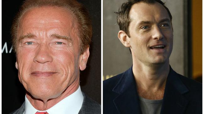 Arnold Schwarzenegger a Jude Law