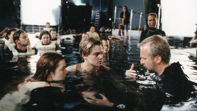 Zákulisné scény z filmu Titanic