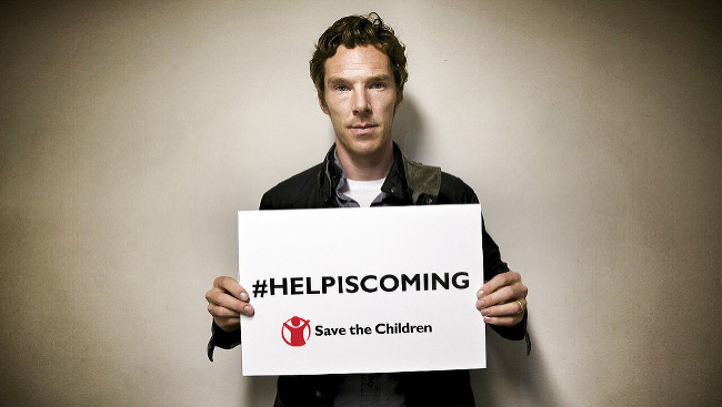 Benedict Cumberbatch podporuje nadáciu