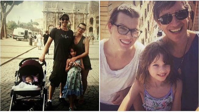 Milla Jovovich s rodinou