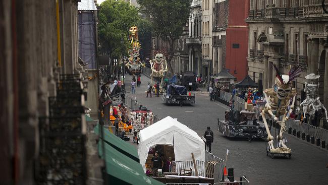Zábery z natáčania novej bondovky Spectre v Mexiku