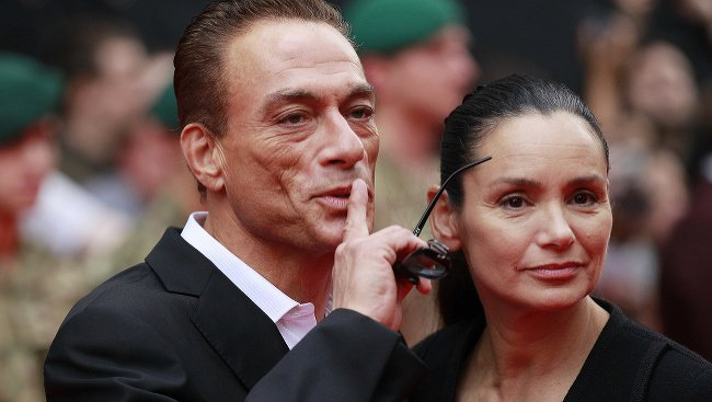 Jean-Claude Van Damme s manželkou Gladys Portugues