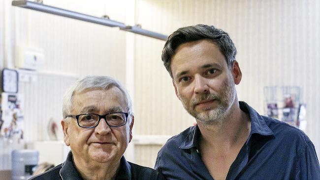 Na snímke zľava herec Stanislav Štepka a režisér Juraj Štepka