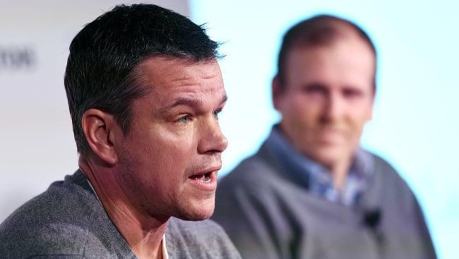 Matt Damon počas panelovej diskusie o globálnej kríze vody počas filmového festivalu Sundance 2016.