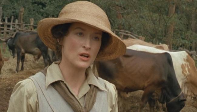 Meryl Streepová vo filme Spomienky na Afriku