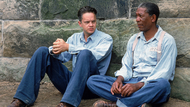 Tim Robbins a Morgan Freeman
