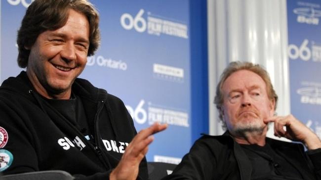 Ridley Scott a Russell Crowe