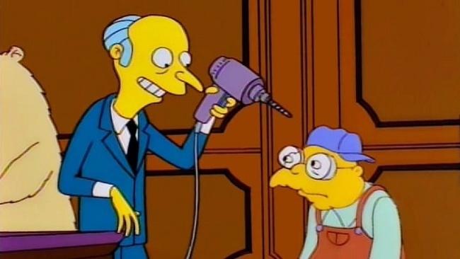Mr. Burns, Simpsonovci