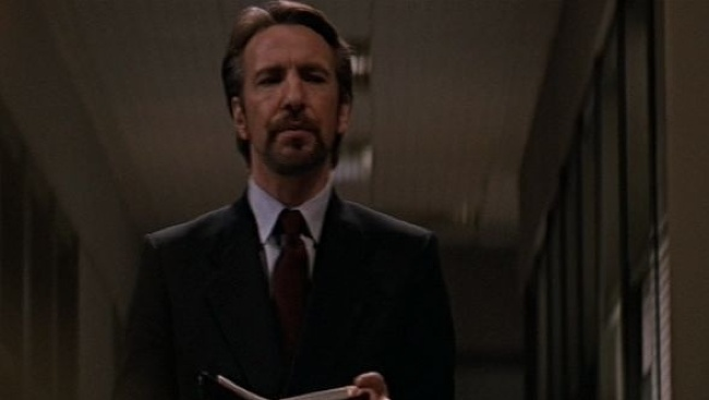 Alan Rickman ako Hans Gruber v Smrtonosnej pasci