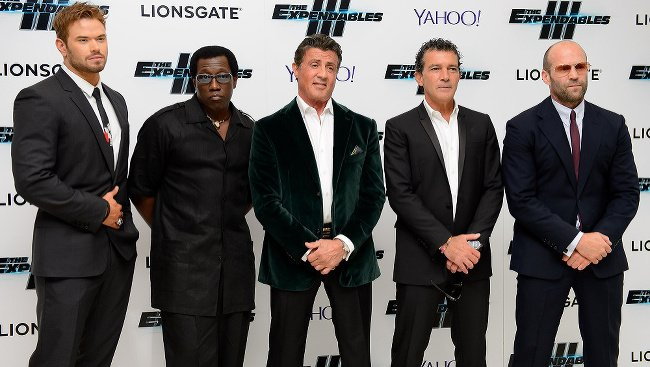 Kellan Lutz, Wesley Snipes, Sylvester Stallone, Antonio Banderas a Jason Statham