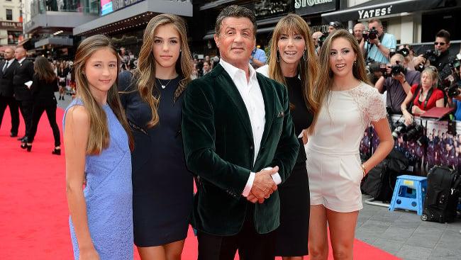 Sylvester Stallone, Jennifer Flavin, Sophia Stallone, Sistene Stallone a Scarlet Stallone