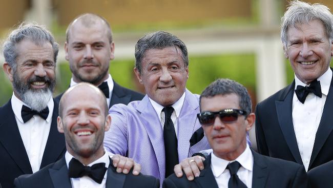 Sylvester Stallone a kolegovia z filmu Expendables 3
