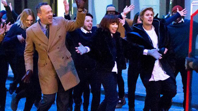 Tom Hanks, Justin Bieber, Carly Rae Jepsen
