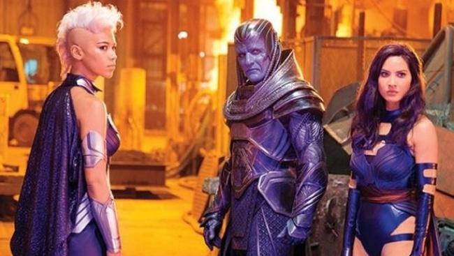 Storm, Apocalypse a Psylocke vo filme X-Men: Apocalypse