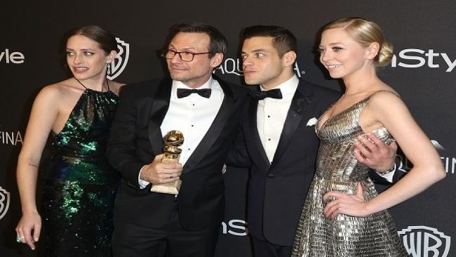 Mr. Robot, Carly Chaikin, Christian Slater, Rami Malek, Portia Doubleday, Zlatý glóbus